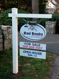 Brad typically offers open houses on his listed houses
